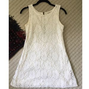 White lace dress from Nordstrom